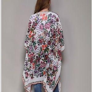 Other - Women's Sheer Chiffon Floral Kimono